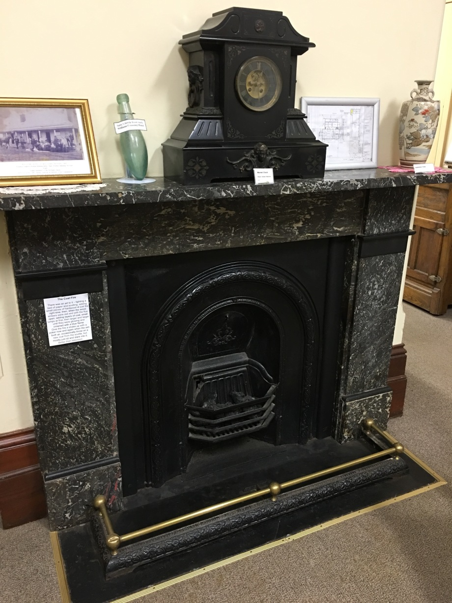 Fireplace at Wyalong Museum