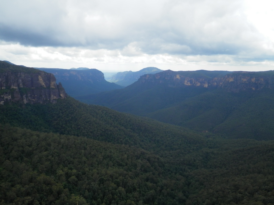 View from Govett's Leap lookout at Blackheath