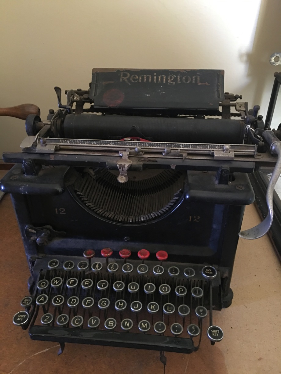Typewriter at Mt Victoria Museum