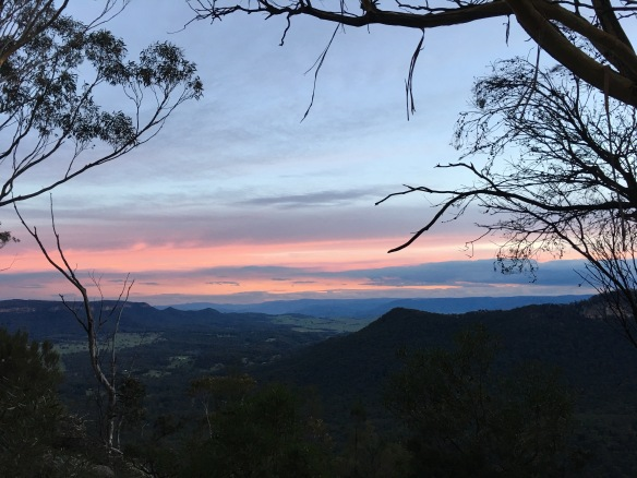 Sunset from Mitchell's Ridge Monument lookout