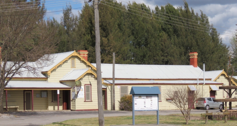 Molong Railway Station, now a library