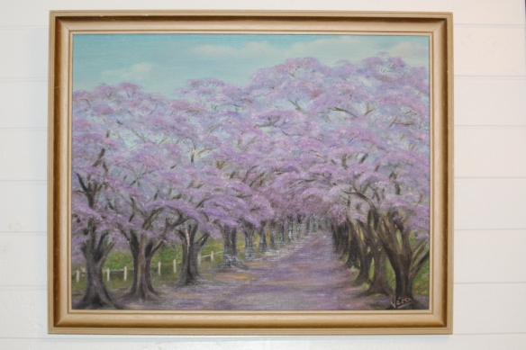 A lovely painting of jacaranda trees spotted at op shop recently