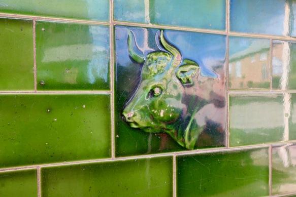 Old shop tile at Portland