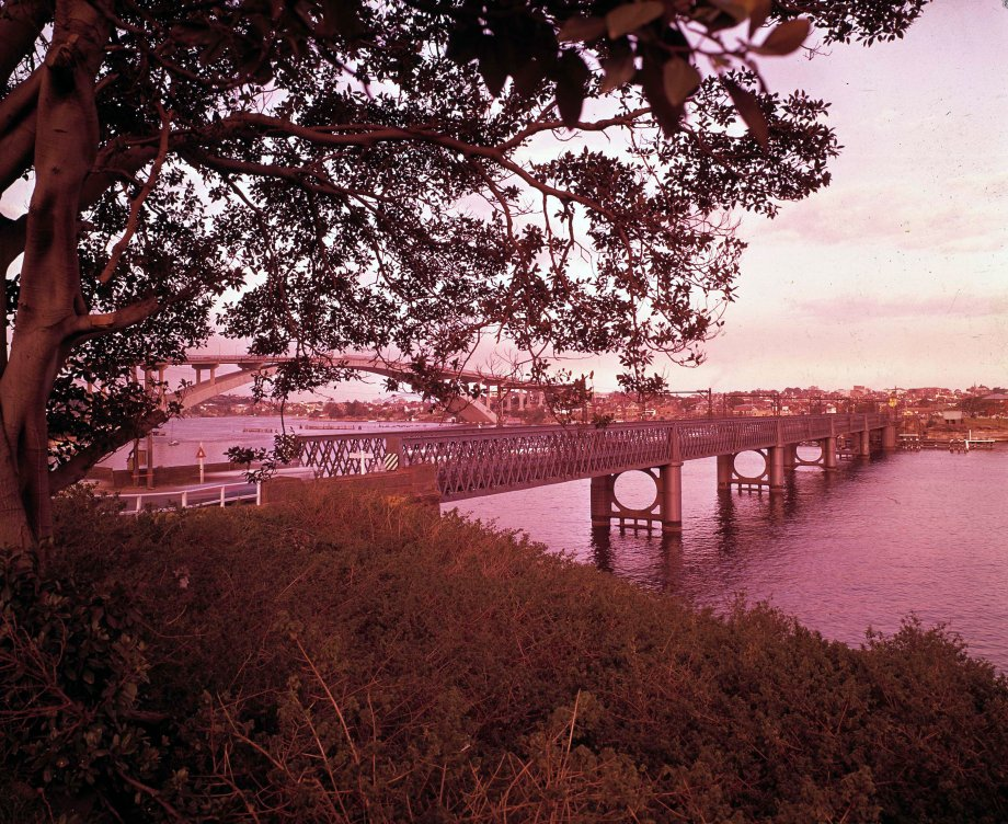 The two Gladesville Bridges, old (middle) and new (left)