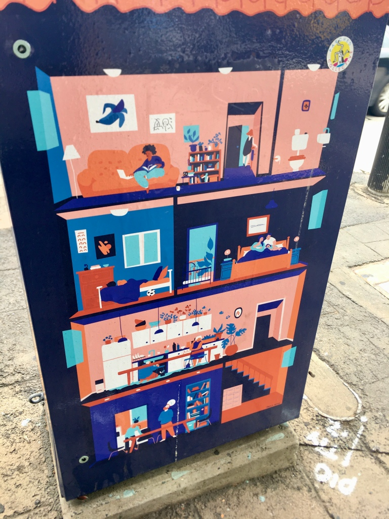 Electricity box depicting urban life, Five Dock