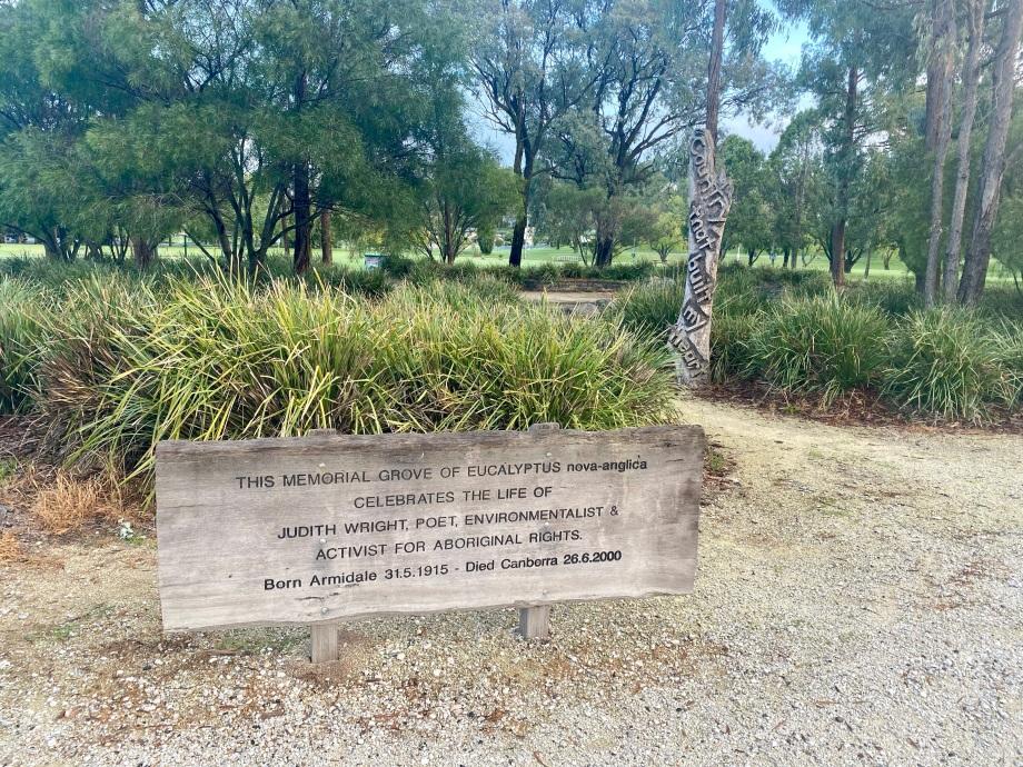 Memorial Grove for Judith Wright, Armidale
