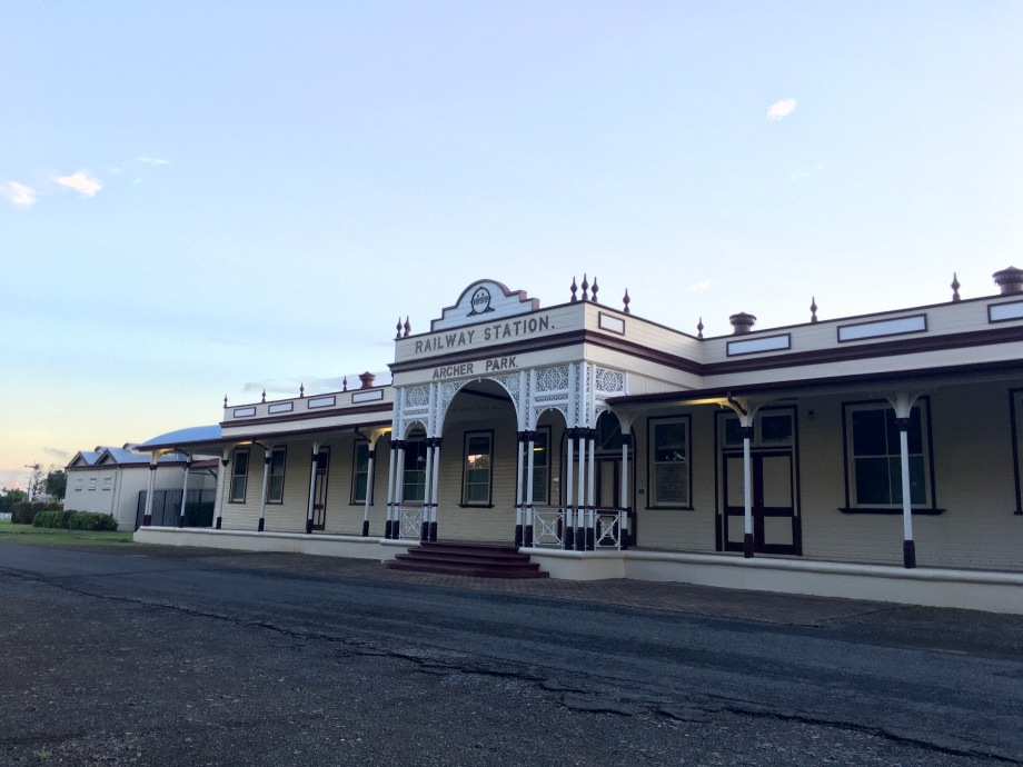 Archer Park Railway Station, now a heritage rail museum