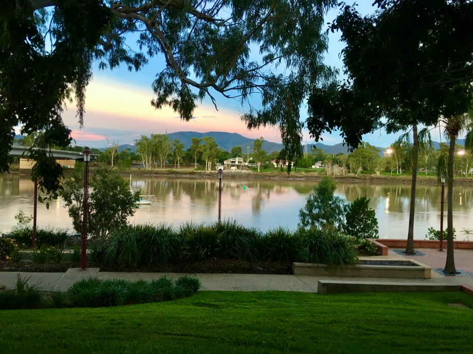 Fitzroy River at sunset, Rockhampton