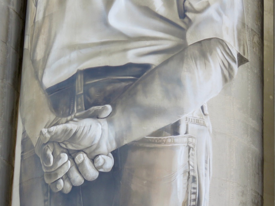 Detail from Portland silos - Guido Van Helton