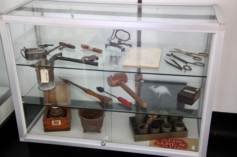 Trade tools at the Newington Armory site, Sydney